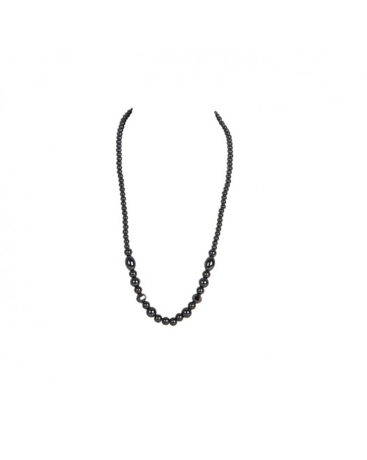 New Black Beaded Necklace with Gift box
